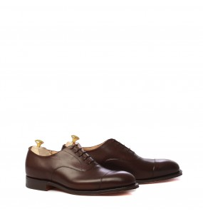 mod. Consul, oxford cap toe, nevada ebony calf, last 173, fitting G, leather sole