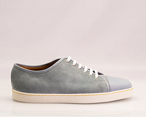 mod. Levah, sneakers, sea blue suede, suola gomma bianca, last 0315, fit E